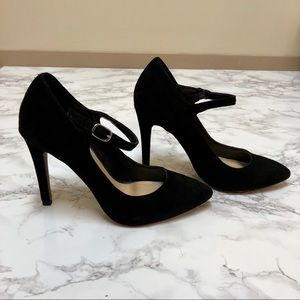 Jessica Simpson Faux Suede Mary Jane Heels